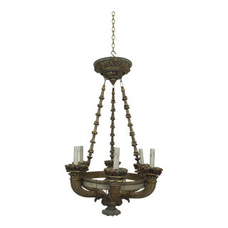 Antique Italian Carved Chandelier
