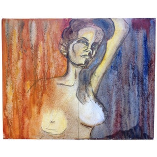 Nude Sketch Painting on Canvas