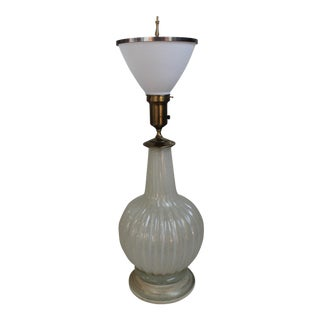 Italian Murano Glass Vase Lamp