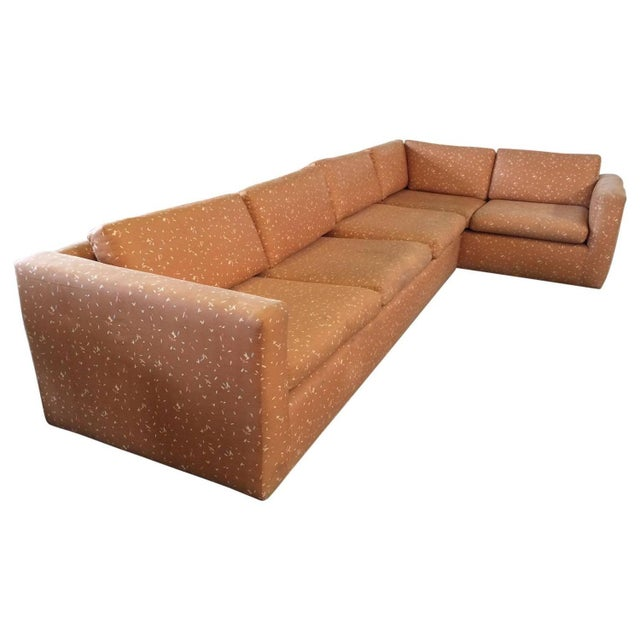 Image of Milo Baughman Large Sectional Sofa with Pullout