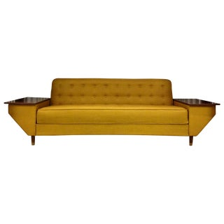 Mid-Century Modern Mustard Yellow Daybed