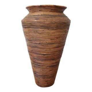 Vintage Coiled Pencil Reed Vase