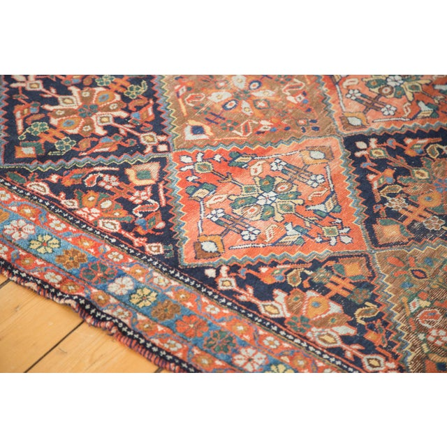 """Antique Distressed Afshar Square Rug - 4'4"""" X 5'7"""" - Image 7 of 9"""