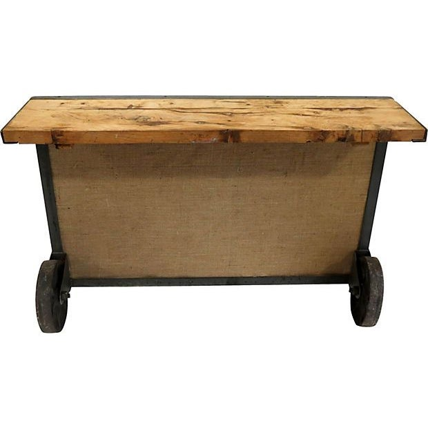Image of Vintage Industrial Wood Console