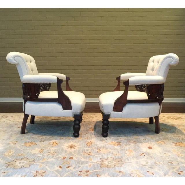 Antique Victorian Tub Chairs - Image 4 of 11