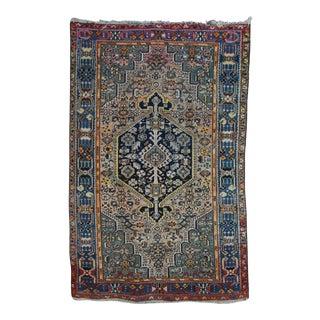 "Vintage Bohemian Persian Rug - 4'2"" X 6'5"""