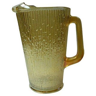 Gold Carnival Glass Pitcher