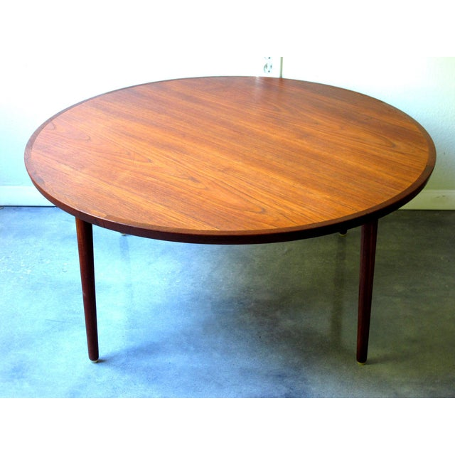 Old Teak Coffee Table: Vintage Danish Bowa Round Teak Coffee Table