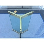 Image of Pace Leon Rosen Glass & Brass Dining Table
