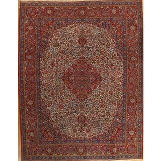 "Antique Persian Kashan Rug - 8'11"" X 11'7"""