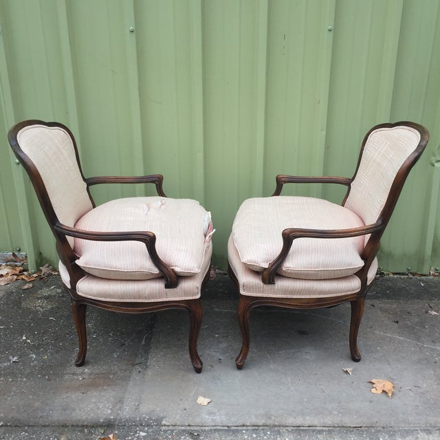 Louis XVI Fauteuil Bergere Chairs - a Pair - Image 5 of 11