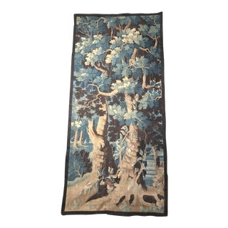 18th Century French Verdure Aubusson Tapestry with Trees and Foliage