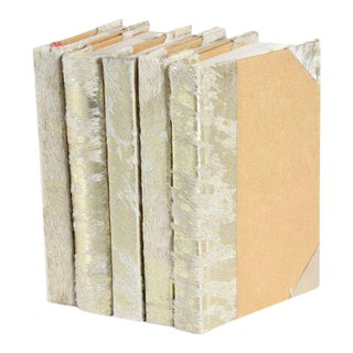 Metallic Hide White & Gold Books - Set of 5