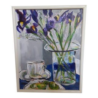 """Harriet's Floral Iris Tablescape"" Painting"