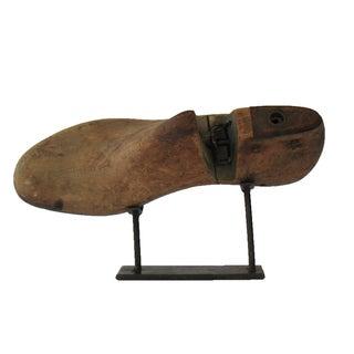 Vintage Cobbler Shoe Mold on Stand