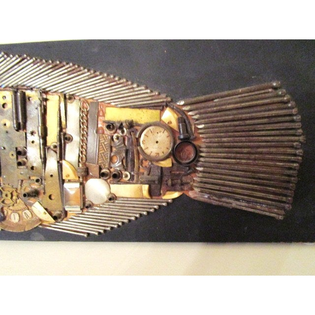 Industrial Fish Collage Sculpture - Image 4 of 5