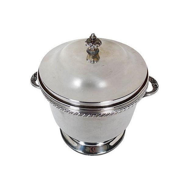 Image of Silverplate-Covered Ice Bucket With Insulation