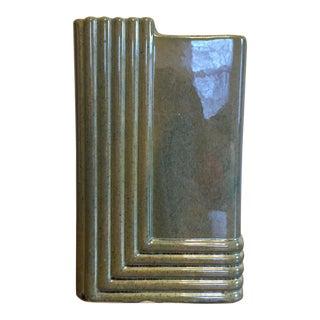 Brush Mid-Century Art Deco Style Ceramic Vase