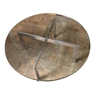 "Knoll Barcelona ""X"" Circle Coffee Table"