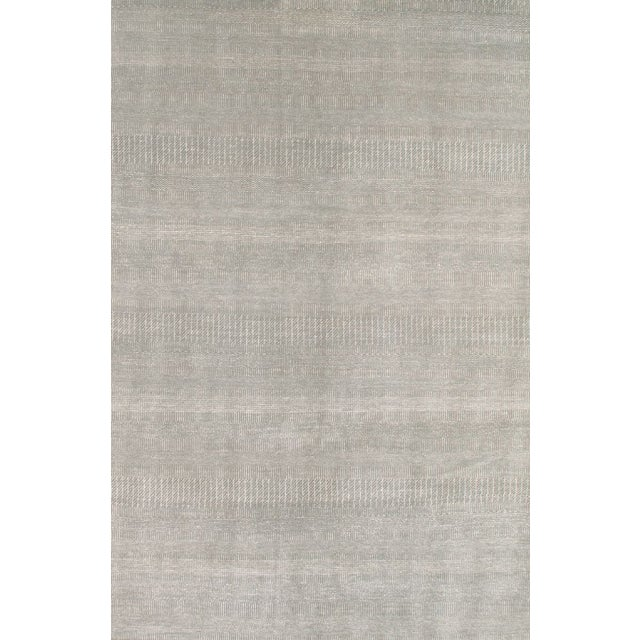 Image of Pasargad Modern Silk & Merino Wool Area Rug- 6'x9'