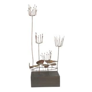 Jere' Waterlilies Brass Sculpture