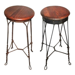Pair of Bar or Pub Bar Stools