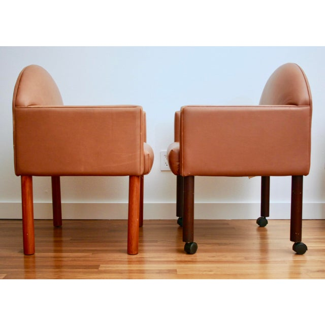 Postmodern Leather Chairs, Set of 2 - Image 5 of 11