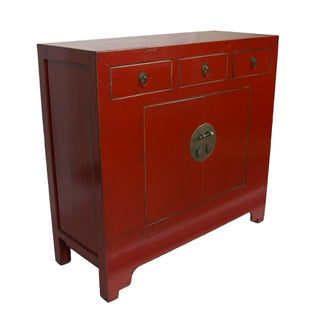 Red Simple Shangdong Cabinet