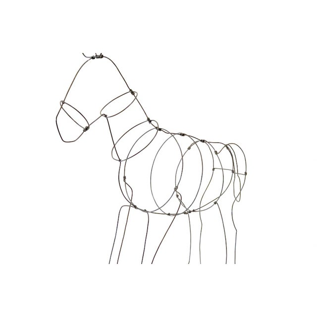 Image of Wire Donkey Sculpture