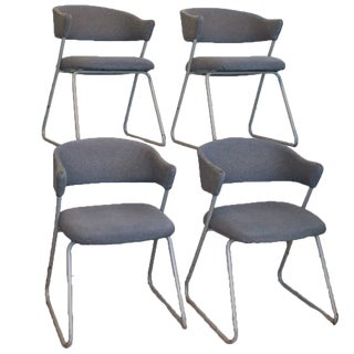 Memphis Style Dining Chairs, Set of Four with Cantilever frames