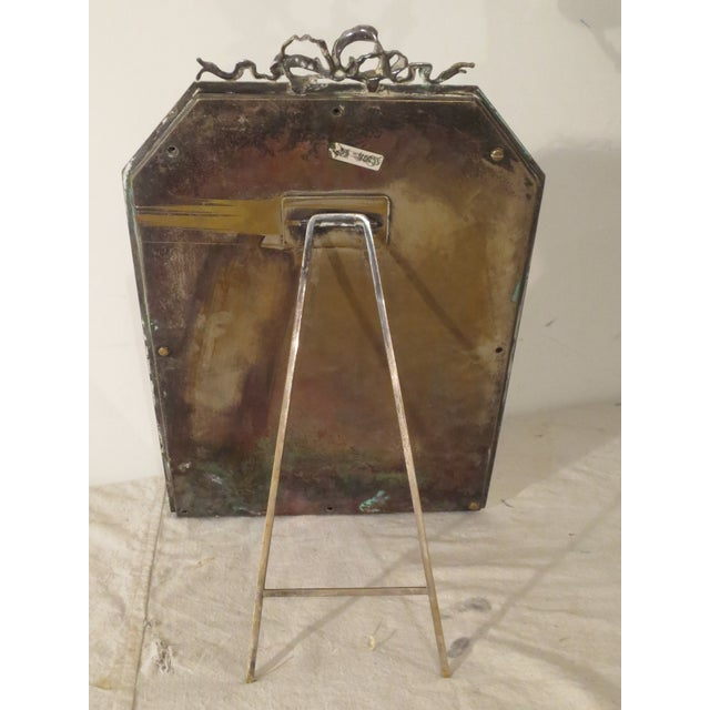 Large 19th Century Silverplate Picture Frame - Image 6 of 7