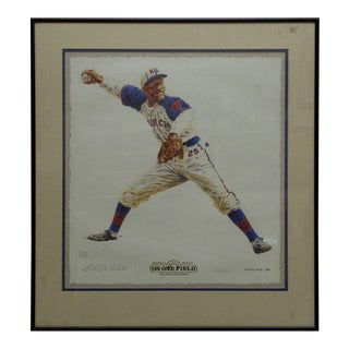 "Limited, Numbered (212/1000) Signed Print ""Satchel Paige - 1942"", Baseball's Greatest, Bullion Graphics"
