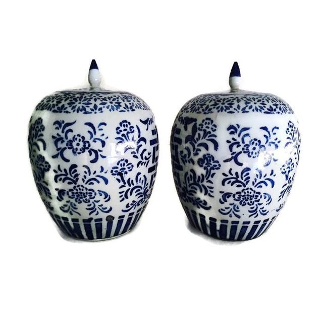 Chinoiserie Ginger Jars, Double Happiness - A Pair - Image 5 of 6