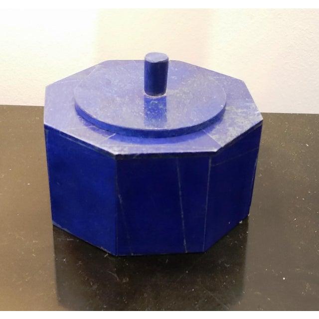 Octagonal Lapis Lazuli Box - Image 2 of 4