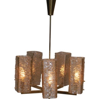 Cubist Vintage Glass Chandelier