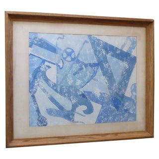 Large Signed Abstract by Noted Artist Siri Larsen