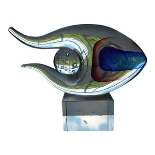 Original Vintage Murano Hand Blown Art Glass Fish Sculpture