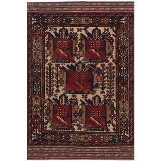 "Tajik Caucasian Vintage Rug, 4'3"" x 6'8"""