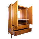 Image of French Provincial Country Walnut Armoire