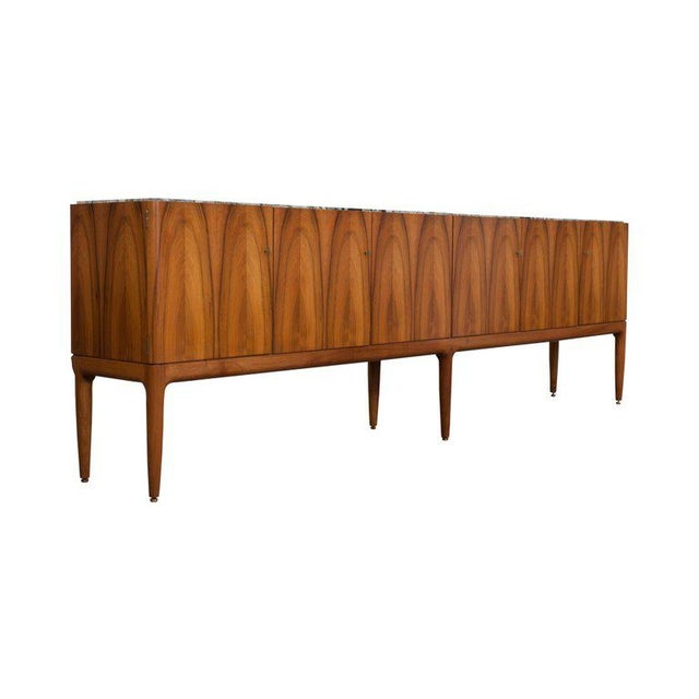 Walnut and Marble Credenza by Jos De Mey - Image 10 of 11