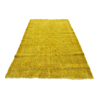 Oushak Yellow Rug- 5′4″ × 8′6″
