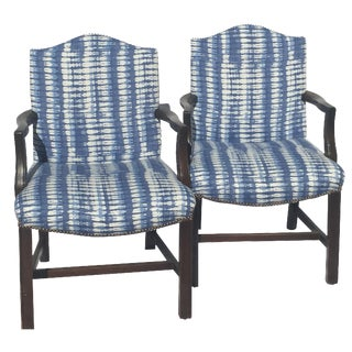 Boho Chic Custom Raoul Textiles Armchairs - A Pair