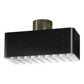 Paavo Tynell Rectangular 9068 Ceiling Lamp in Black and White, Finland, 1950s