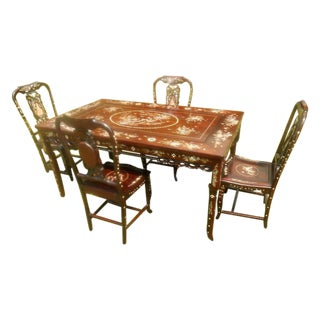 Mother of Pearl Inlay Asian Dining Set