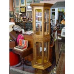 Image of Hollywood Regency Gold Painted Curio Cabinet