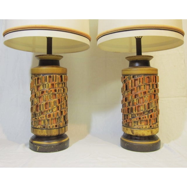 Vintage 1960s Ceramic Table Lamp - A Pair - Image 4 of 6