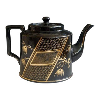 Aesthetic Movement Pottery Teapot & Cover