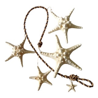 Vintage Starfish & Rope Garland