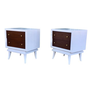 Vintage Walnut Nightstands - A Pair