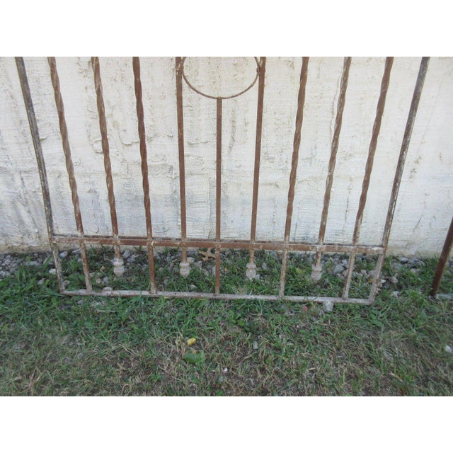 Antique Victorian Iron Gate or Garden Fence - Image 4 of 7